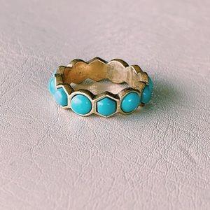 Geometric Turquoise Ring